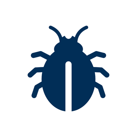 ladybug: Isolated Insect Icon Symbol On Clean Background. Vector Bug Element In Trendy Style. Illustration