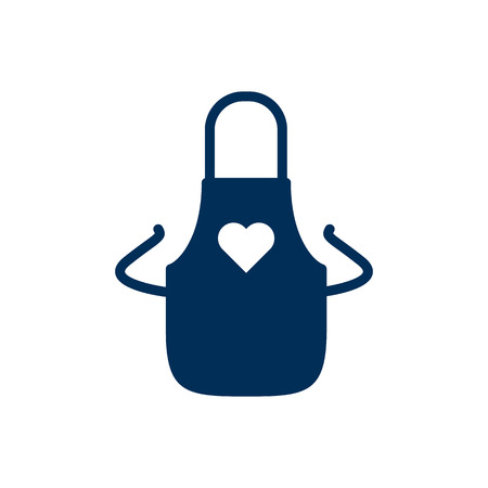 Isolated Apron Icon Symbol On Clean Background. Vector Pinafore Element In Trendy Style. Illustration