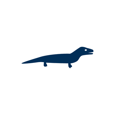 Isolated Lizard Icon Symbol On Clean Background. Vector Gecko Element In Trendy Style. Illustration