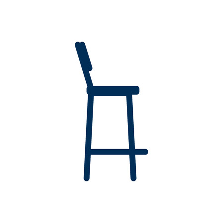 Isolated Bar Stool Icon Symbol On Clean Background. Vector Chair Element In Trendy Style.