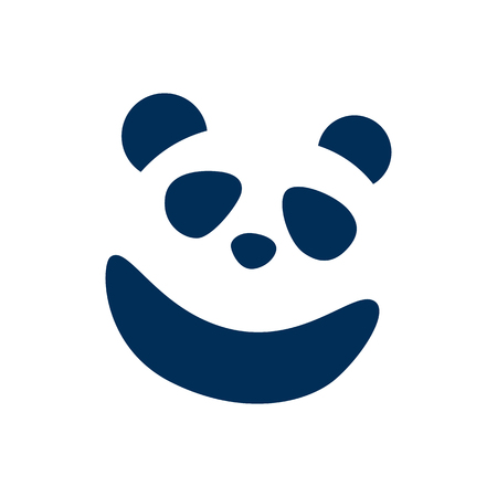 Isolated Panda Icon Symbol On Clean Background. Vector Bear Element In Trendy Style.
