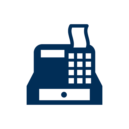 Isolated Cash Register Icon Symbol On Clean Background. Vector Till Element In Trendy Style.