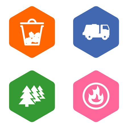 Set Of 4 Atmosphere Icons Set.Collection Of Reforestation, Shipping, Trash And Other Elements.