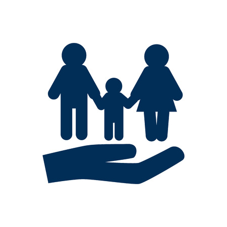 Isolated People Icon Symbol On Clean Background. Vector Insurance Element In Trendy Style.