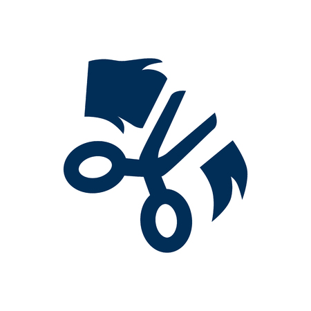 Isolated Grooming Icon Symbol On Clean Background Vector Scissor