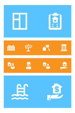 Set Of 12 Property Icons Set.Collection Of Broker, Skyscraper, House Keys And Other Elements. Illustration