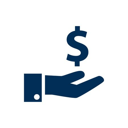 Isolated Money Saving Icon Symbol On Clean Background. Vector Sponsor Element In Trendy Style.