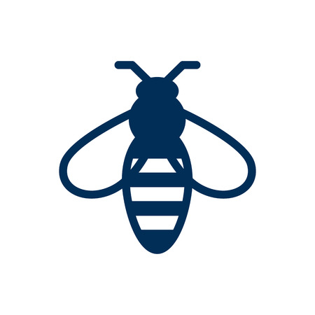 Isolated Bee Icon Symbol On Clean Background. Vector Bumblebee Element In Trendy Style. Illustration