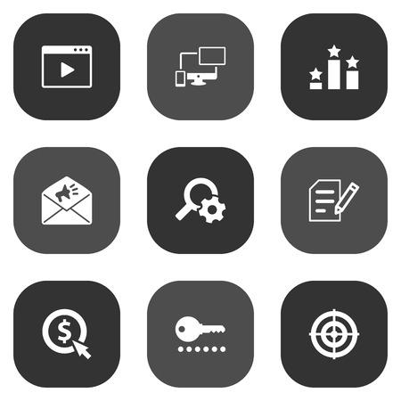 9 検索アイコン Set.Collection のクリックして、エンジン、作成者権限およびその他の要素のセットです。