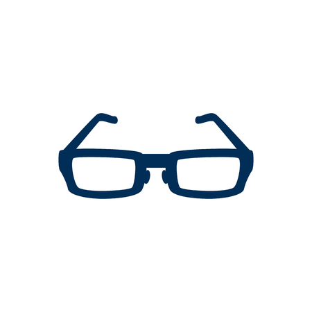 eyewear fashion: Isolated Spectacles Icon Symbol On Clean Background. Vector Sunglasses Element In Trendy Style.