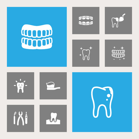 Set Of 10 Dental Icons Set.Collection Of Toothpaste, Procedure, Gingivitis And Other Elements.