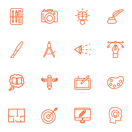 Set of 16 art related icon.