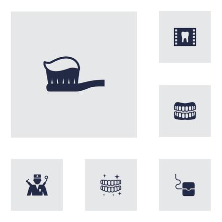 Set von 6 Zahnarzt Symbol. Standard-Bild - 88902831