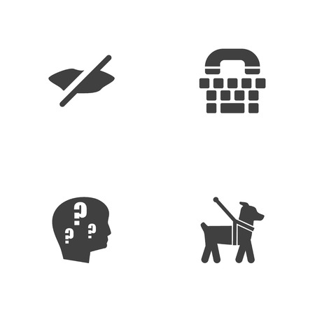 Set of 4 accessibility icons.