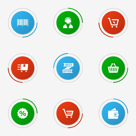 Set of grocery icon isolated on white background Illustration