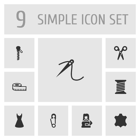 Set of tailor icons vector illustration