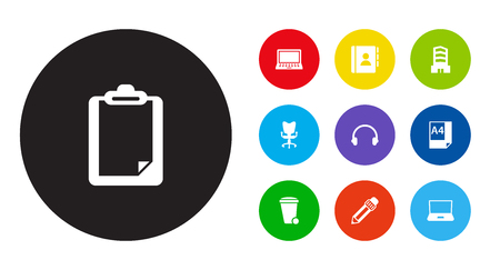 Set of work icons vector illustration Illustration
