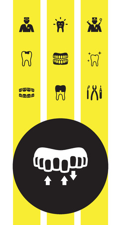 Set of 10 dental icons vector illustration