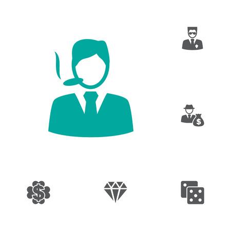 Set of gambling icons vector illustration Illustration