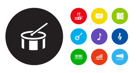 Set of musical icons vector illustration