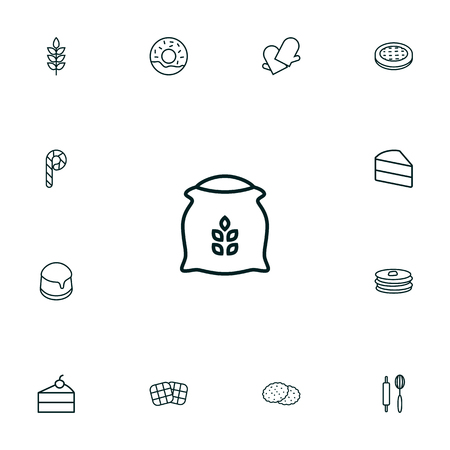 Set of pastry icons vector illustration