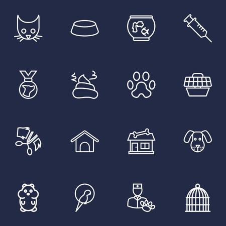 Set of pet shop icons vector illustration
