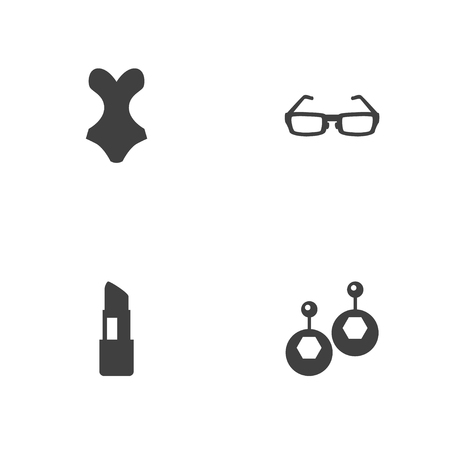 Set of 4 fashion accessories icons vector illustration Ilustração