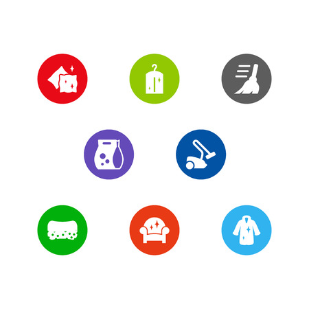 Set of cleaning concept icons vector illustration