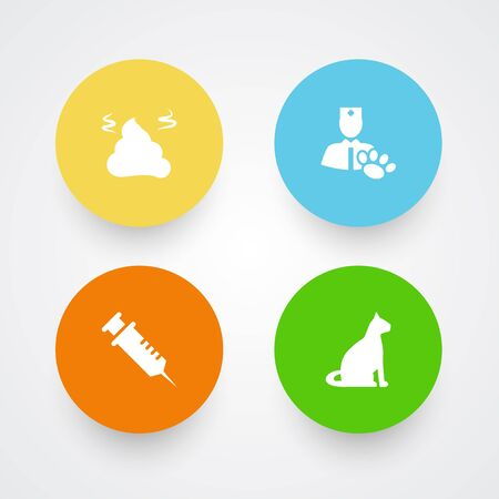 Set Of 4 Pet Icons