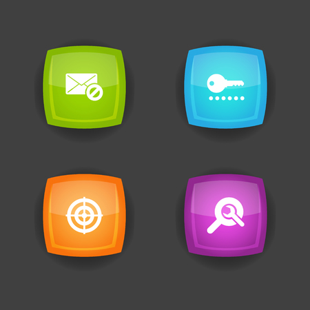 Set Of 4 Optimization Icons.