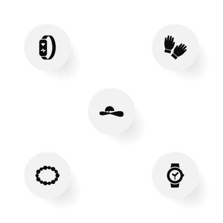 5 Ornamentation 아이콘의 집합입니다. 일러스트