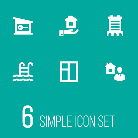 Set Of 6 Real Icons.
