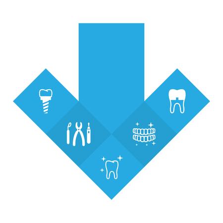 Set Of 5 Dental Icons. Ilustrace