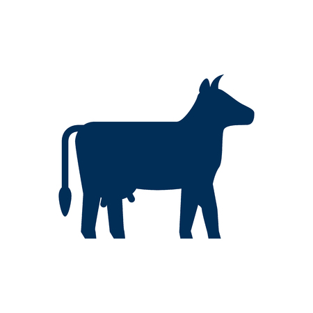 Isolated Cow Icon Symbol On Clean Background. Vector Kine Element In Trendy Style. Ilustrace
