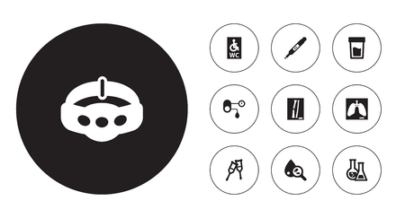 Set Of 10 Medical Icons.