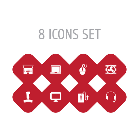 Set of computer concept icons. Illustration