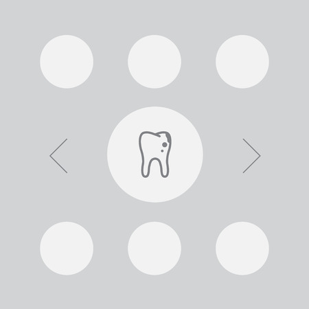 Set Of 7 Dental Icons Set.Collection Of Healthful, Decay, Implantation And Other Elements. Illustration