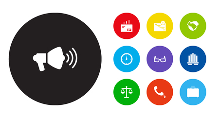 Set Of 10 Management Icons Illustration