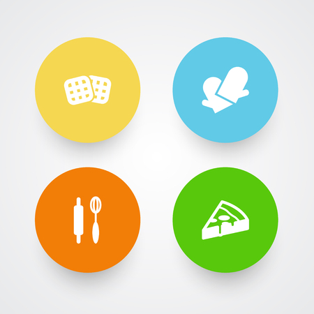 Set Of 4 Food Icons.