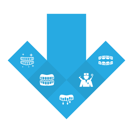 Set Of Dentist Icons Set.Collection Of Orthodontist, Hygiene, Stabilize And Other Elements.