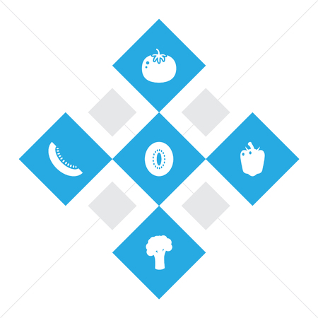 Set Of Food Icons Set.Collection Of Ketchup, Bulgarian Bell, Exotic Fruit And Other Elements.