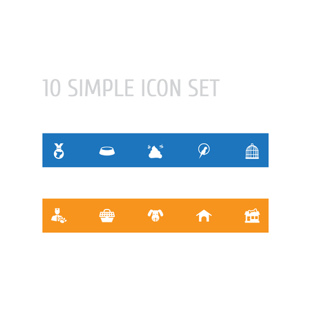 Set Of 10 Pets Icons
