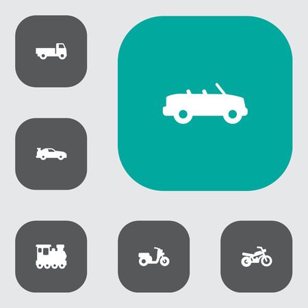 Set Of 6 Shipping Icons.