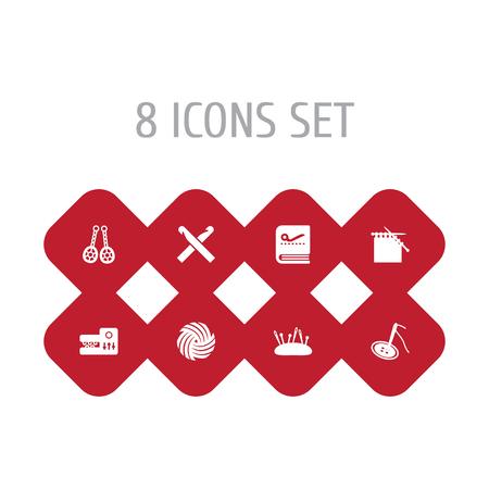 Set Of 8 Handcraft Icons.