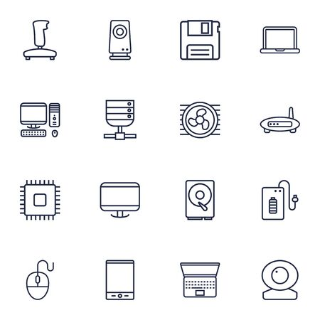 Collection Of Computer Mouse, Floppy, Powerbank And Other Elements.