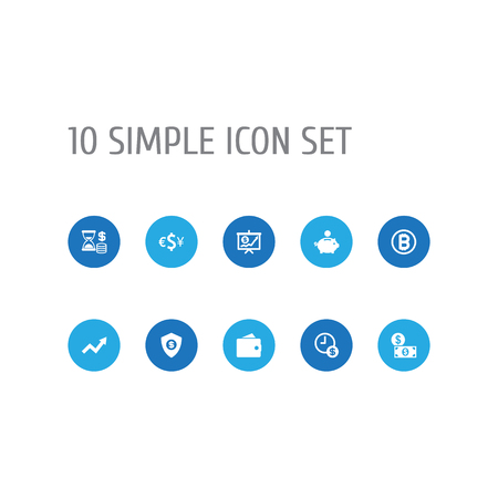 Set Of 10 Budget Icons Set.Collection Of Payment, Economy, Currency And Other Elements. Illustration