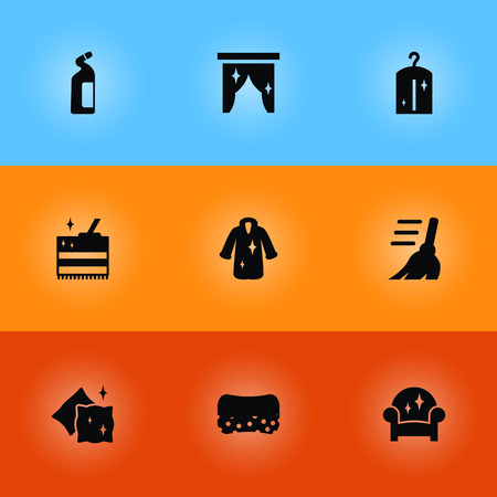 Collection Of Wisp, Clothes, Curtain And Other Elements. Set Of Harvesting Icons Set. Illustration
