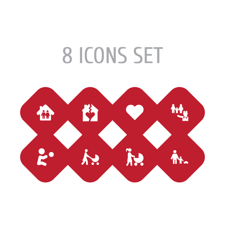 Set of 8 people icons set. Collection of divorce, doctor, soul and other elements.