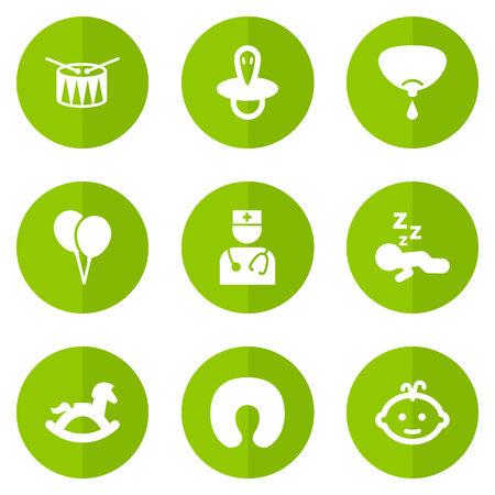 Set of 9 child icons set. Collection of pediatrician, balloon, child and other elements.