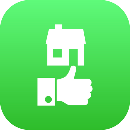 Isolated good property choice icon symbol on clean background. Vector like element in trendy style. Stock Illustratie
